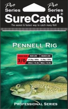 Sure Catch Pro Series Pennell Rig (60lb Main Line)
