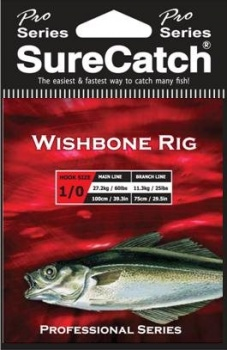 Sure Catch Pro Series Wishbone Rig (60lb Main Line)
