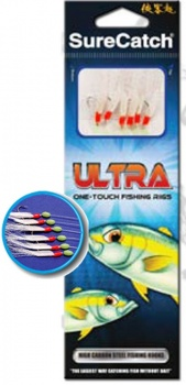 Sure Catch Sabiki Ultra One Touch Rainbow Fishing Rig, Size 14