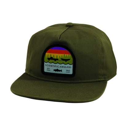 Scientific Anglers Hat Flat Brim Trout Patch Olive - Olive
