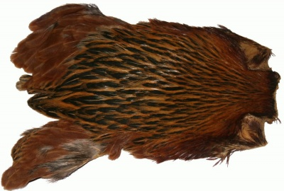 Veniard Indian Hen Cape - Med Red/Brown
