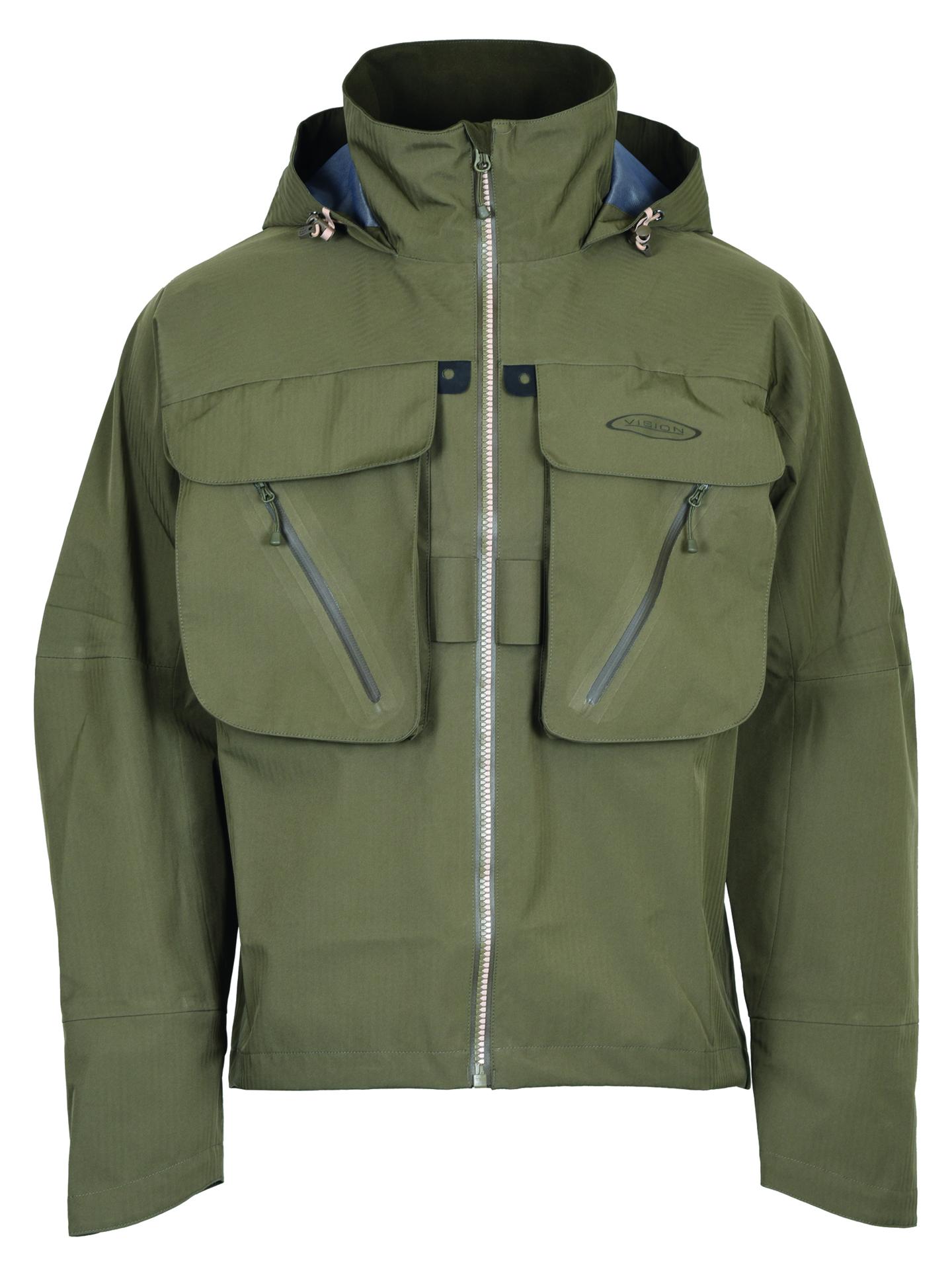 Vision Pupa Wading Jacket Dark Green Breathable Waterproof Wading Jacket