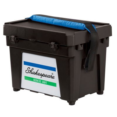Shakespeare Seatbox - Black Strap And 2 X Tray, Cusion, Padded Strap And Tackle Box