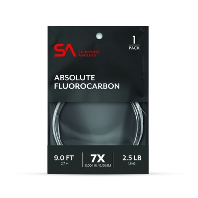 Scientific Anglers Absolute Fluorocarbon Leader 9' - Clear