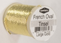 Semperfli French Oval Tinsel - Large - Gold